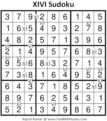 Answer of XIVI Sudoku Puzzle (Fun With Sudoku #285)