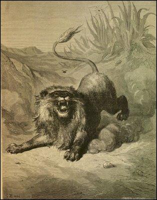 fábula de el León y el Mosquito