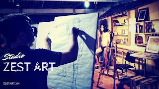 trung tâm dạy vẽ cho người lớn và trẻ em ở tphcm, luyện thi đại học mỹ thuật