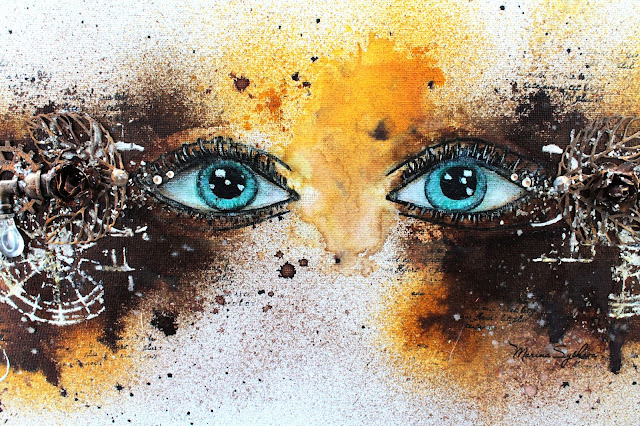 @marinasyskova #scrap #scrapbooking #mixedmedia #eyes #canvas #steampunk