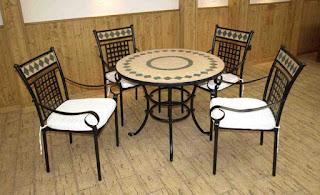 Set de 1 Mesa y 4 Sillones Forja Diaman