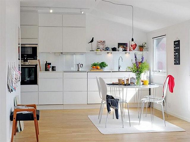 Cách bày trí nhà bếp nhỏ - thiết kế ánh sáng hợp lý