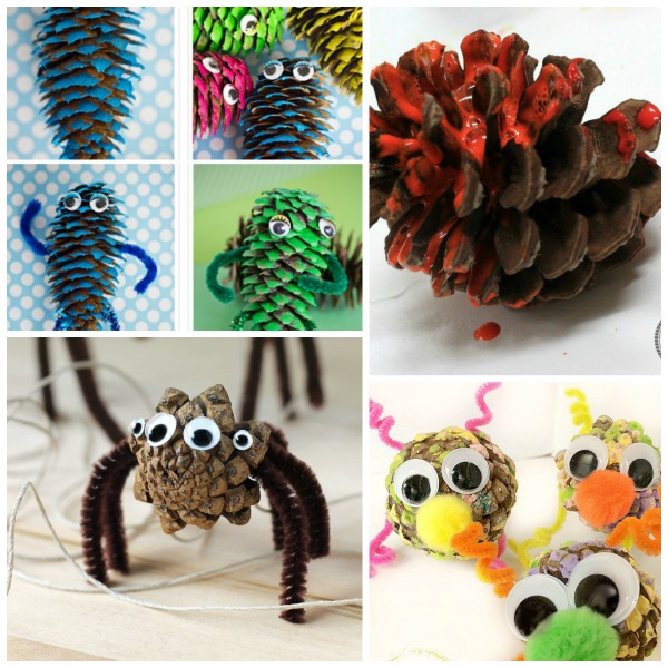 Pine cone crafts for kids growing a jeweled rose for Pine cone crafts for children
