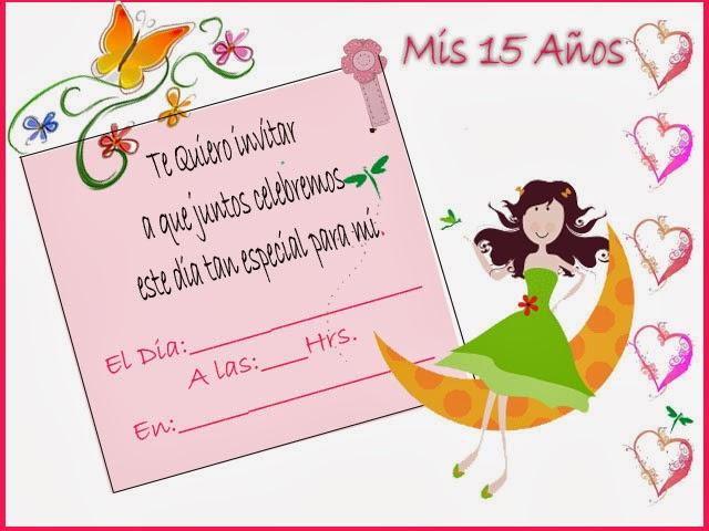 Textos Para Invitaciones 15 Anos: Full Imagenes De Amor: Tarjetas De Invitacion 15 Años