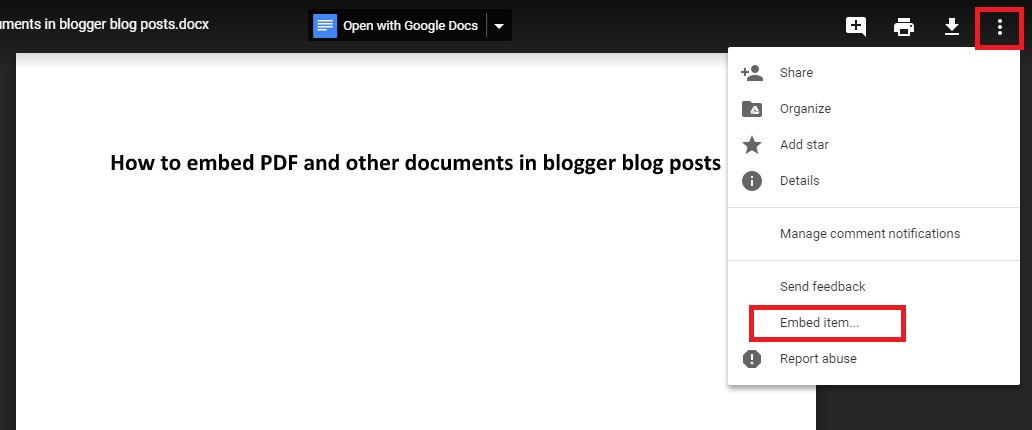 How to Embed PDF and Other Documents in Blogger Posts - Wonder Krish
