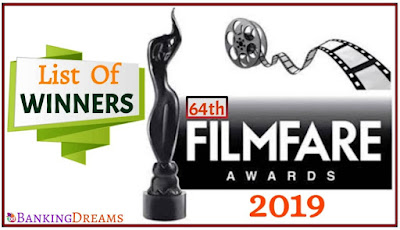 Complete List Of Winners In 64th Filmfare Awards 2019