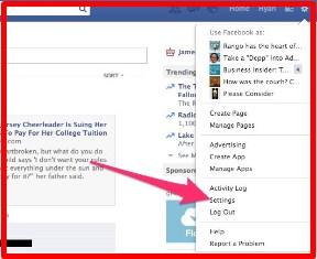 Facebook login notification hack