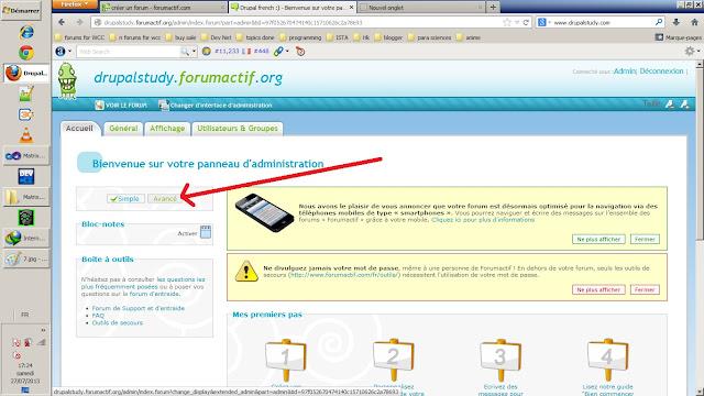 changer vers l'utilisation avance votre panneau d'administration de votre forum gratuit forumactif.com