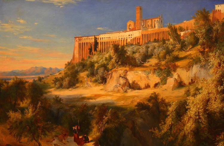 Carl Blechen - View of Assisi