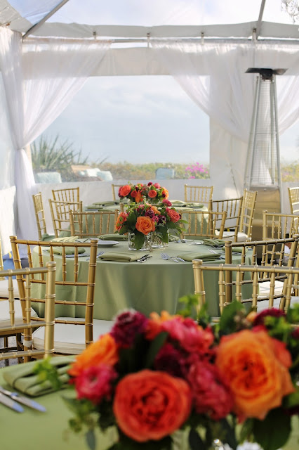 sanibel island tented party flowers