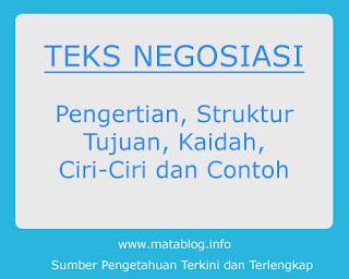 Teks Negosiasi: Pengertian, Struktur, Ciri - Ciri, Tujuan, Kaidah dan Contoh