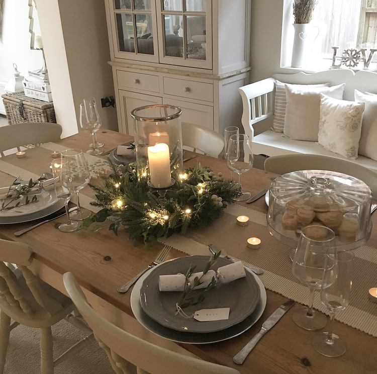 Feast Your Eyes Gorgeous Dining Room Decorating Ideas: Christmas Tablescape With Laura Ashley*