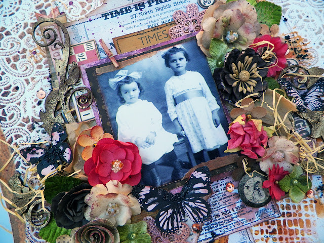 "Vintage Layout by Lisa Novogrodski for Scraps of Darkness using the September Kit ""Blush"""
