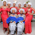 Wow! Meet the twin sisters who graduated with First Class as they wed in style...photo
