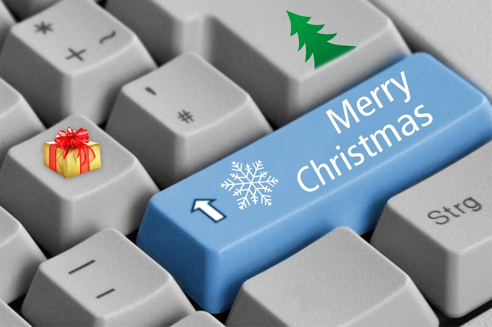 Merry Christmas keyboard Illustrating True Holiday Spirits Comes in Unexpected Ways