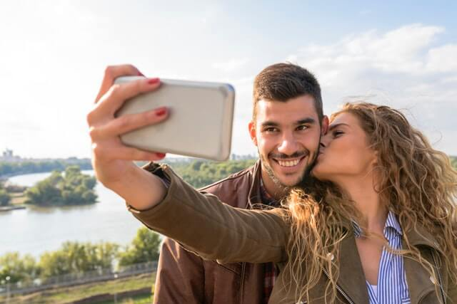 Couple Taking Picture HD Copyright Free Image
