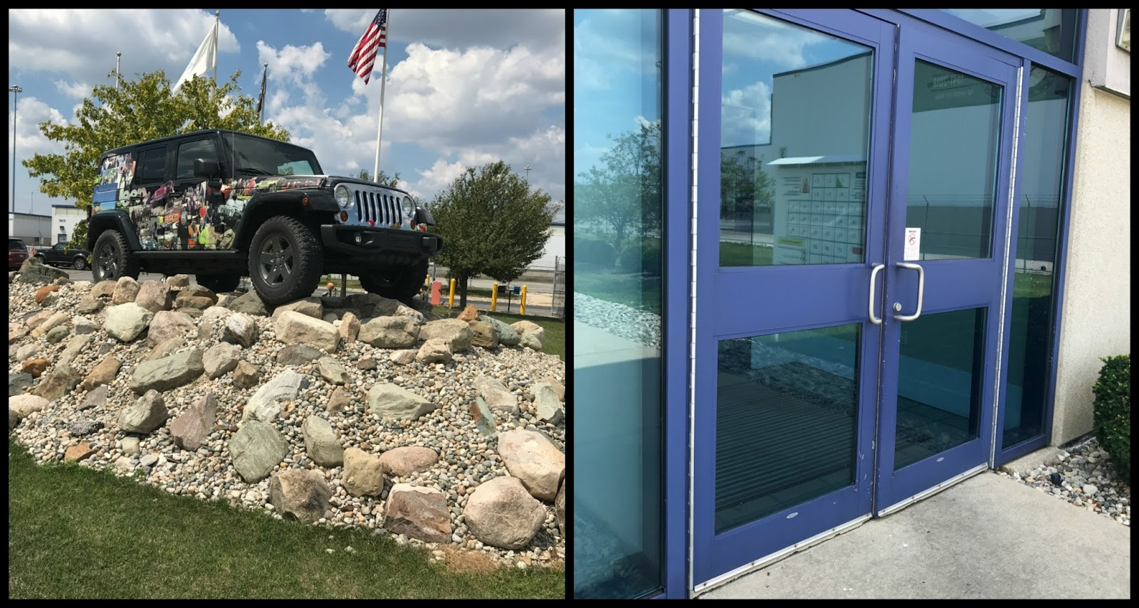 Jeep Wrangler Assembly Plant Tour Under The Sun Inserts Film A Black And Purple Doors Greeted Me Perfect Welcome For Once Inside I Needed To Watch Safety Video
