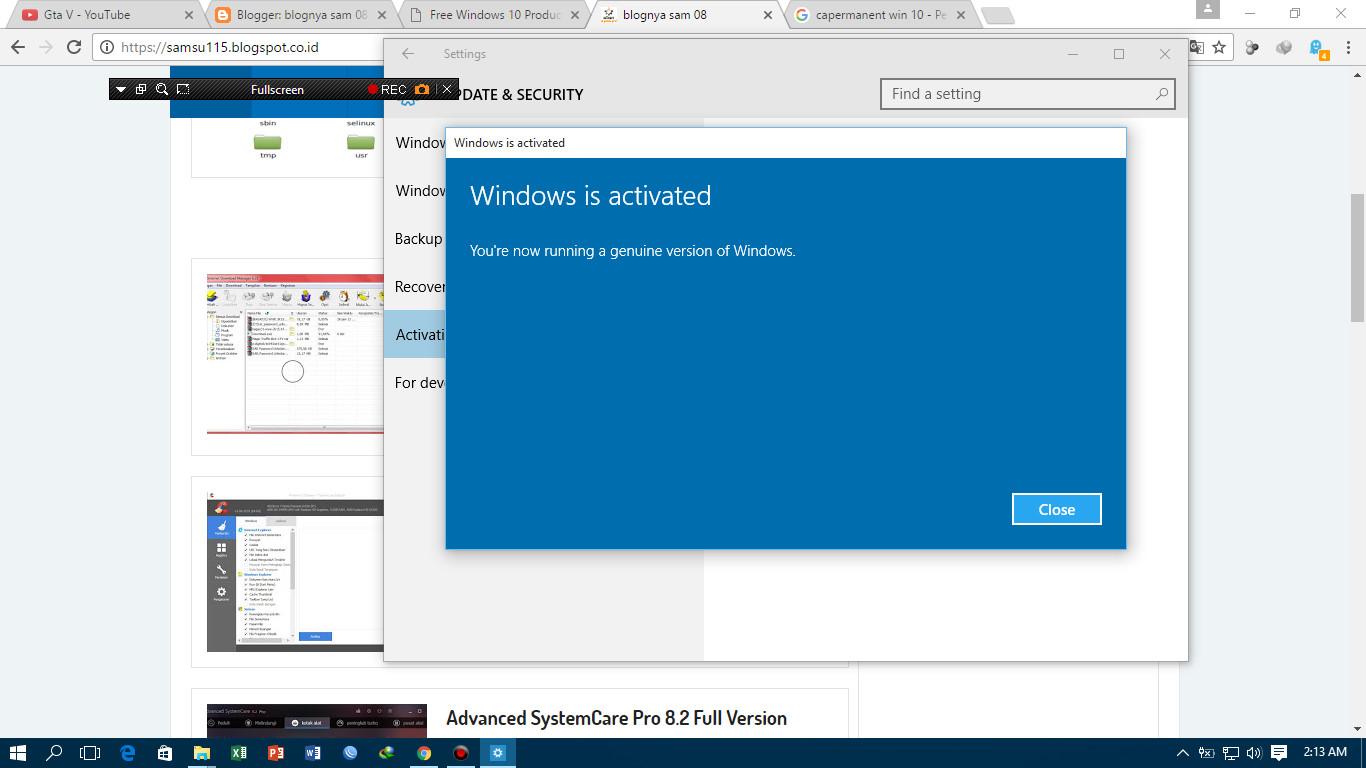 Cara Aktivasi Windows 10 Permanent Dengan Product Key Blognya Sam 08 Lisensi Pro Dan Office Plus 2016 Original Note