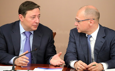 Deputy Prime Minister Alexander Khloponin and First Deputy Chief of Staff of the Presidential Executive Office Sergei Kiriyenko at a meeting of the Council for Interethnic Relations.