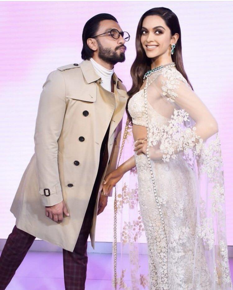 Ranveer Singh can't stop kissing Deepika Padukone's wax statue