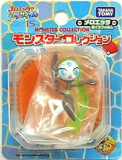 Meloetta figure Arina Form clear version Takara Tomy Monster Collection 2012 movie promo
