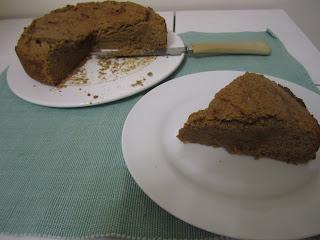 Gâteau à la châtaigne sans gluten, farine de châtaigne