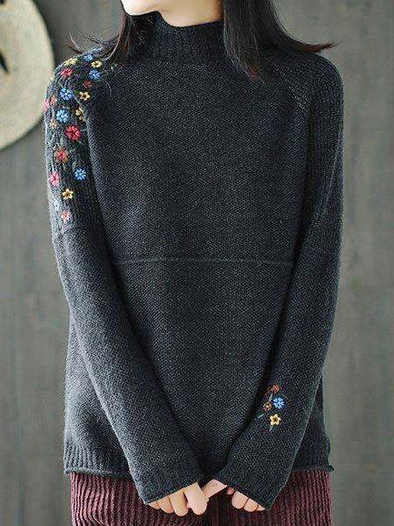hafty na swetrze