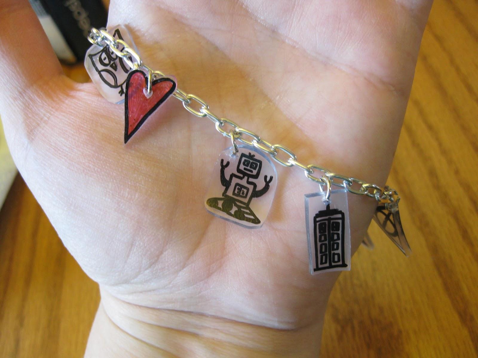 Sarah Jane S Craft Blog Shrinky Dink Charm Bracelet