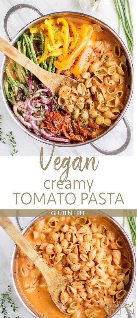 Vegan One Pot Pasta With Creamy Tomato Sauce