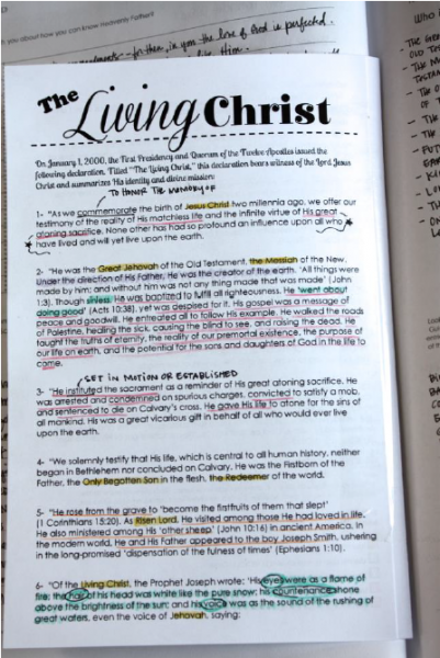 graphic regarding The Living Christ Printable identified as LDS Parenting: Memorize The Residing Christ as a Relatives and a