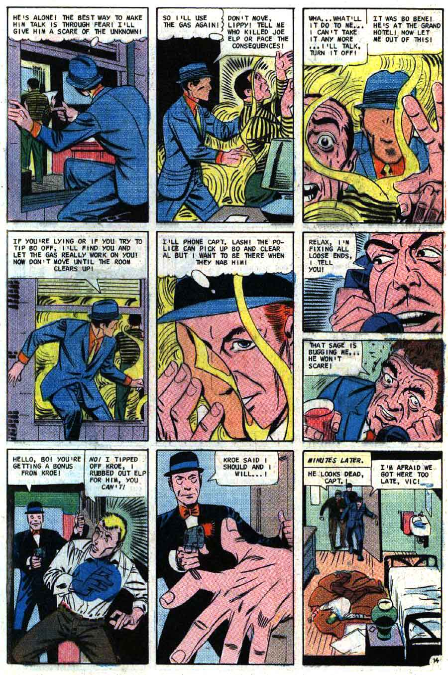 Mysterious Suspense v1 #1 charlton question silver age 1960s comic book page art by Steve Ditko