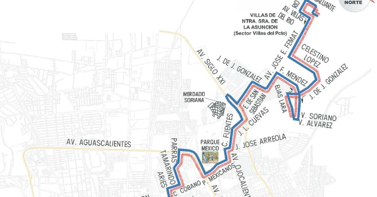 Rutas De Camiones Aguascalientes El Buen Vecino Ruta 08
