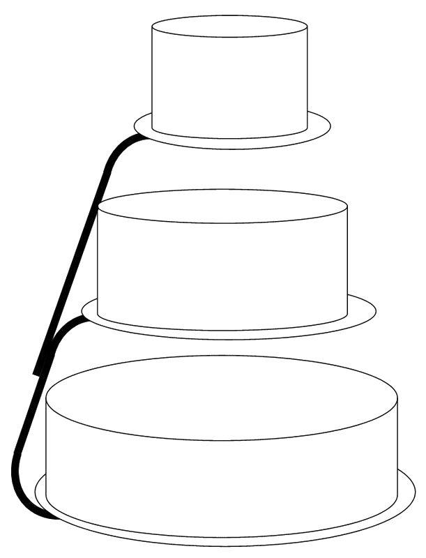lege taart kleurplaat 61 best school thema trouwen images