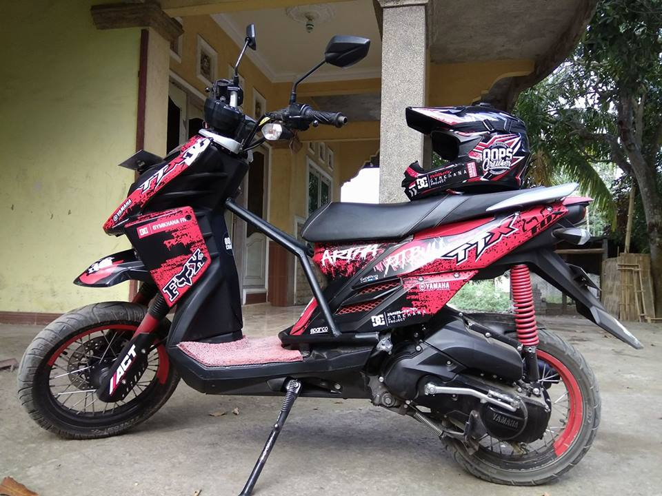 Motoran Yuk 30 Gambar Modifikasi X Ride Ala Supermoto Paling Tangguh