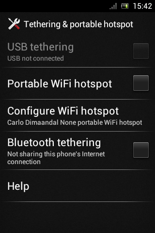 Ice Cream Sandwich Xperia Mini Pro Bluetooth Tethering