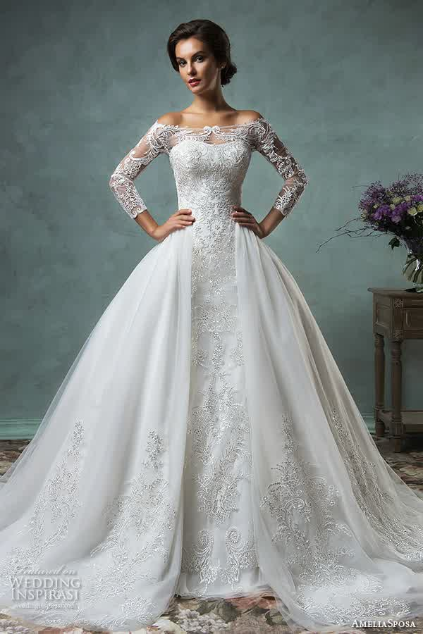 Wed to Traditional ; Long Sleeves Princess Gowns | bridal prom ideas