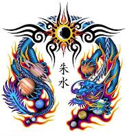 цветные тату дракона фото