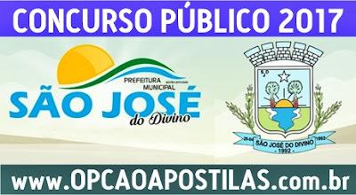 Concurso Prefeitura de São José do Divino PI 2017