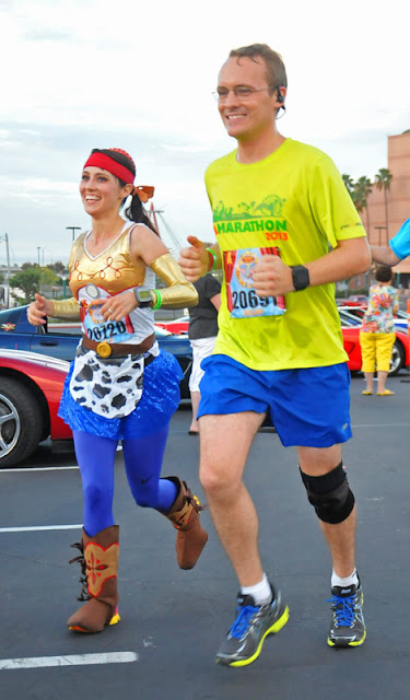 With my running buddy, Greg, during the 2013 Disneyland Half Marathon (before he moved away - booo)