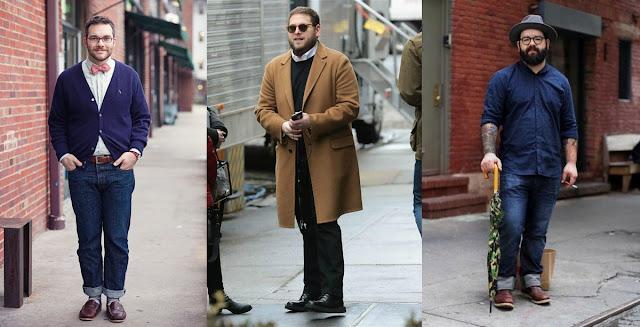 stylish chubby guy men
