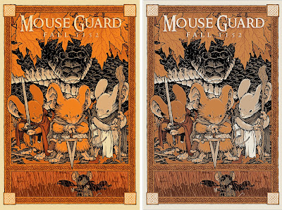 "Mouse Guard ""Fall 1152"" Screen Print by David Petersen x Mondo - Regular Edition & New York Comic Con 2017 Exclusive Variant"