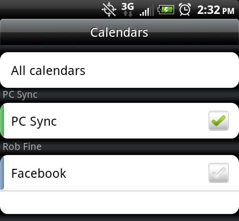 Add Facebook Birthdays to your Android Calendar (but no Facebook Events)
