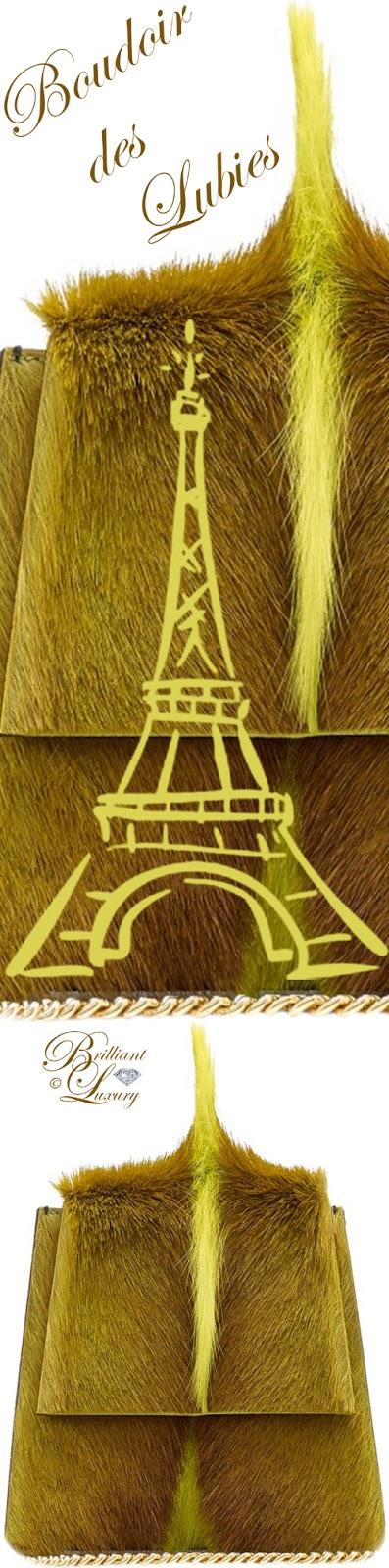 Brilliant Luxury ♦ Boudoir des Lubies Paris ~ Capucine Fourrure de Gazelle Bag FW 2017/18