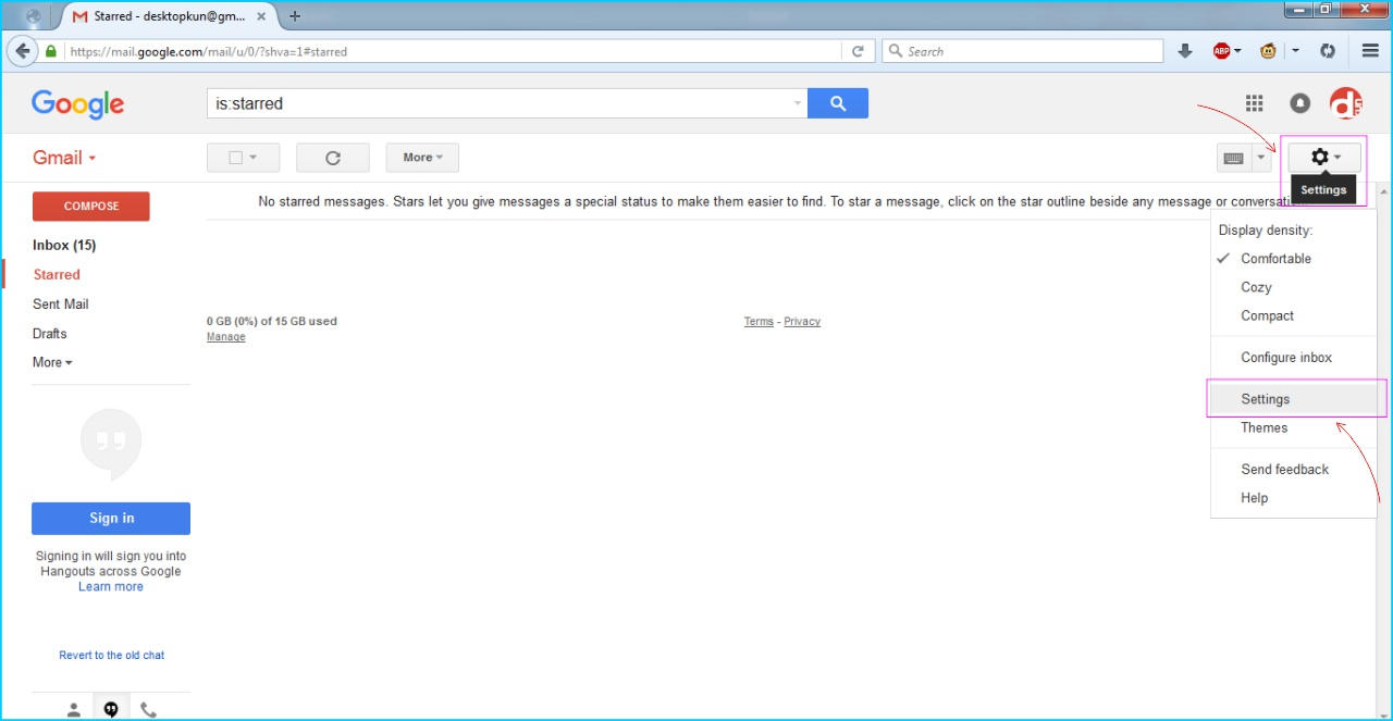 POP IMAP GMail - Login Akun GMail Dari Browser