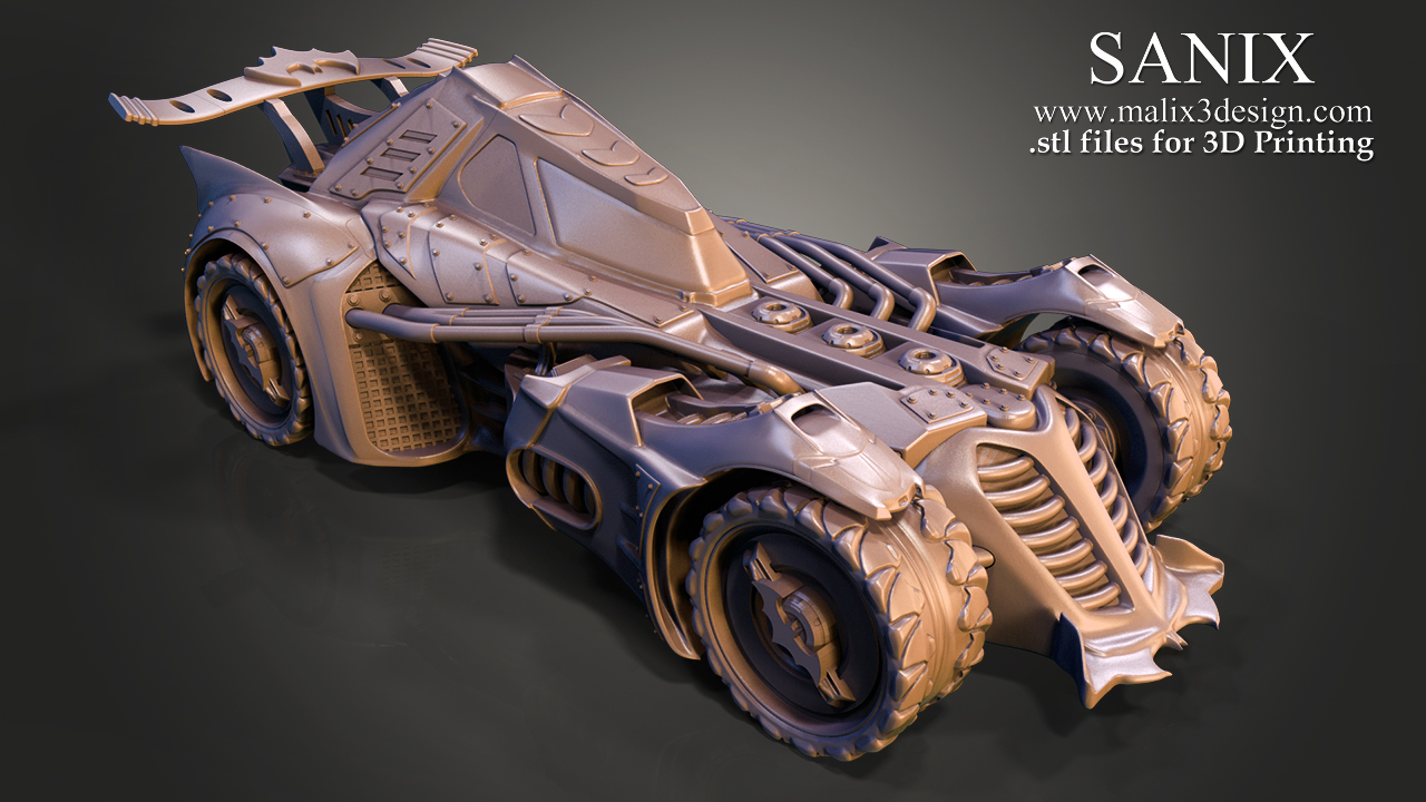 BAT CAR - 3D Printable Model - www.malix3design.com / SANIX - 3D ...