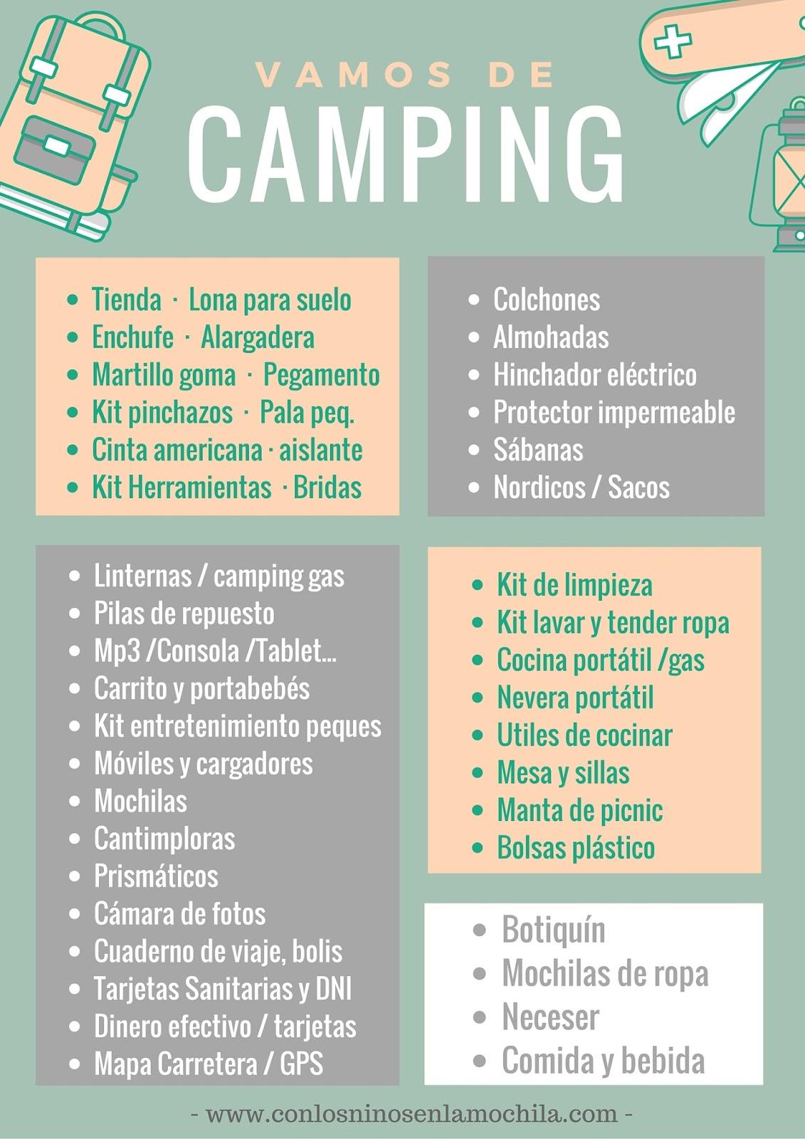 1bbc22631ed Acampada en familia: ¿Qué nos tenemos que llevar para ir de camping ...