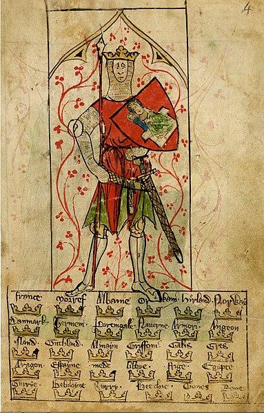 Arthur en rouge dans les Chroniques d'Angleterre