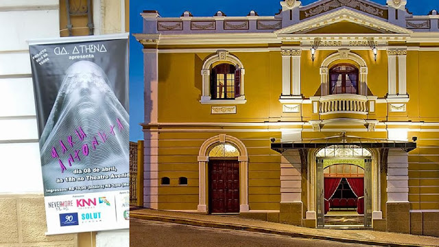 """Grupo Teatral Athena apresenta """"Maria Antonieta"""" neste domingo(8) no Theatro Avenida"""