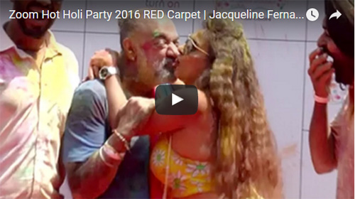 Zoom H0t Holi Party 2016 RED Carpet Jacqueline Fernandez, Poonam Pandey