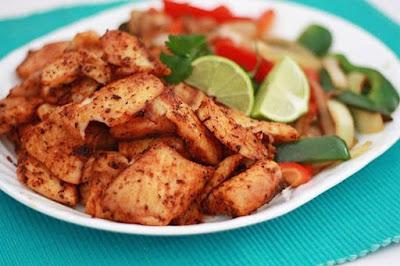 فاهيتا السمك بالخضروات